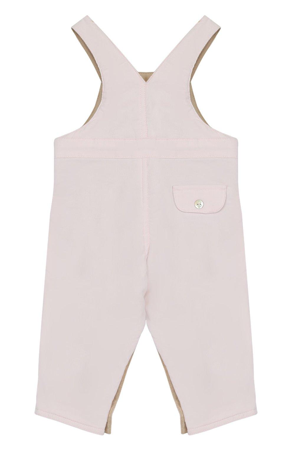 Детский хлопковый комбинезон TARTINE ET CHOCOLAT розового цвета, арт. TK20001/1M-18M   Фото 2 (Рукава: Короткие; Материал внешний: Хлопок)