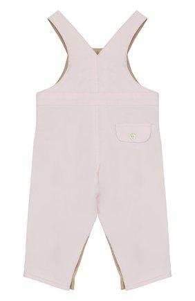 Детский хлопковый комбинезон TARTINE ET CHOCOLAT розового цвета, арт. TK20001/1M-18M | Фото 2 (Рукава: Короткие; Материал внешний: Хлопок)