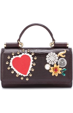 Кожаный чехол для iPhone 7 Plus на цепочке Dolce & Gabbana  | Фото №1