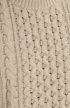 Свитер фактурной вязки из смеси шерсти и кашемира | Фото №5