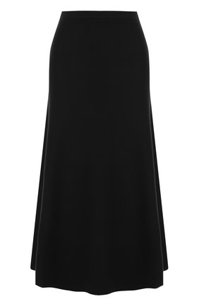 Однотонная шерстяная юбка-миди Gabriela Hearst черная | Фото №1