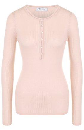 Облегающий кашемировый пуловер Gabriela Hearst серый | Фото №1
