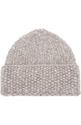 Шерстяная шапка фактурной вязки Karakoram accessories бежевого цвета   Фото №1