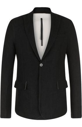 Однобортный пиджак из смеси льна и шерсти   Фото №1