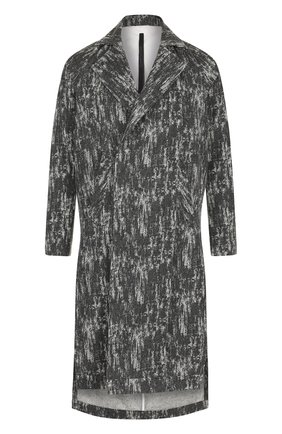 Шерстяное пальто асимметричного кроя с отложным воротником   Фото №1