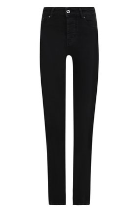 Однотонные джинсы с разрезами | Фото №1