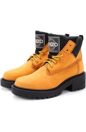 Ботинки из нубука на шнуровке