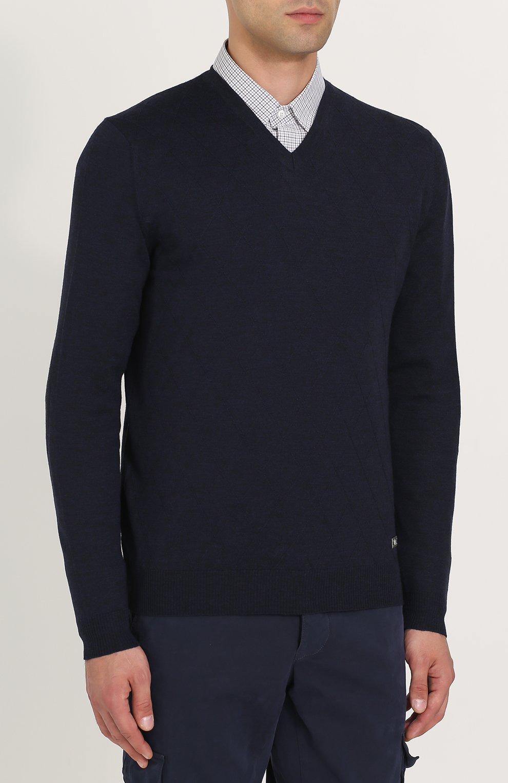 Пуловер из шерсти тонкой вязки | Фото №3