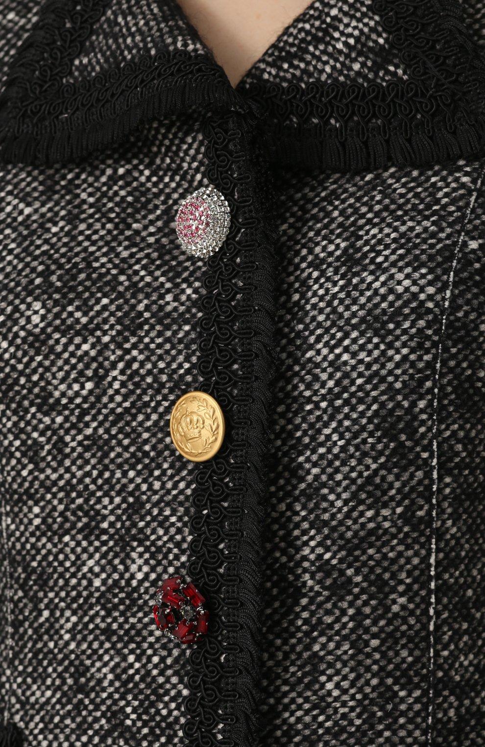 Приталенный жакет с декорированными пуговицами Dolce & Gabbana серый | Фото №5