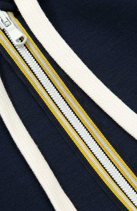 Спортивный кардиган с капюшоном и контрастной отделкой | Фото №3