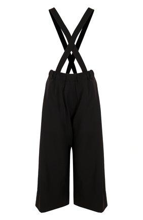 Шерстяные укороченные брюки с подтяжками   Фото №1