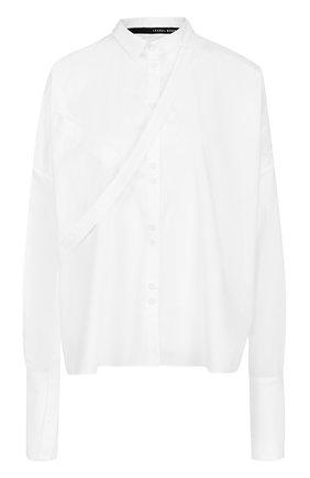 Хлопковая блуза свободного кроя   Фото №1