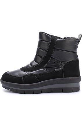 Детские текстильные утепленные ботинки Jog Dog черного цвета | Фото №1
