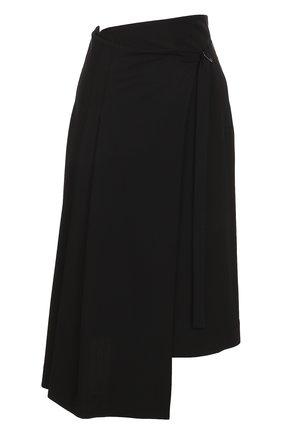Шерстяная юбка асимметричного кроя   Фото №1