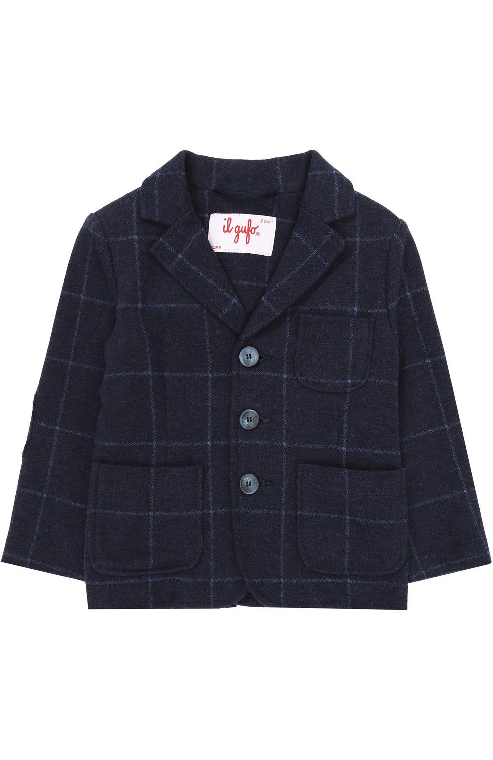 Хлопковой пиджак в контрастную полоску | Фото №1