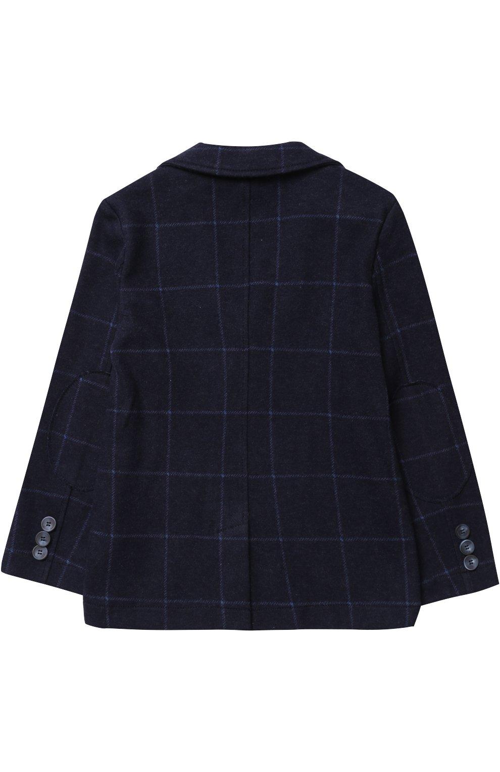 Хлопковой пиджак в контрастную полоску | Фото №2