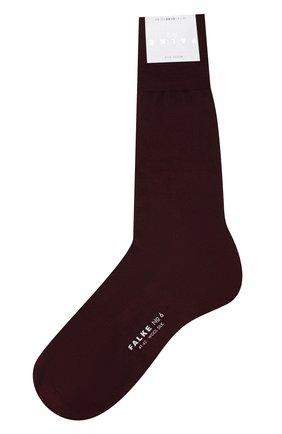 Мужские носки из смеси шерсти и шелка FALKE бордового цвета, арт. 14451 | Фото 1