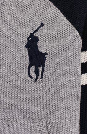 Хлопковый кардиган на молнии с логотипом бренда | Фото №3