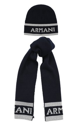 Комплект из шапки и шарфа с логотипом бренда | Фото №1