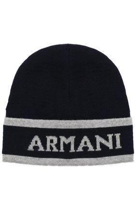 Комплект из шапки и шарфа с логотипом бренда | Фото №2
