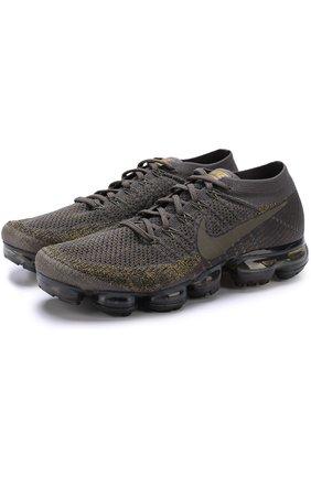 Текстильные кроссовки NikeLab Air VaporMax NikeLab темно-серые   Фото №1