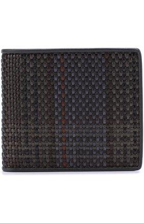 Кожаное портмоне с отделениями для кредитных карт Zegna Couture разноцветного цвета | Фото №1
