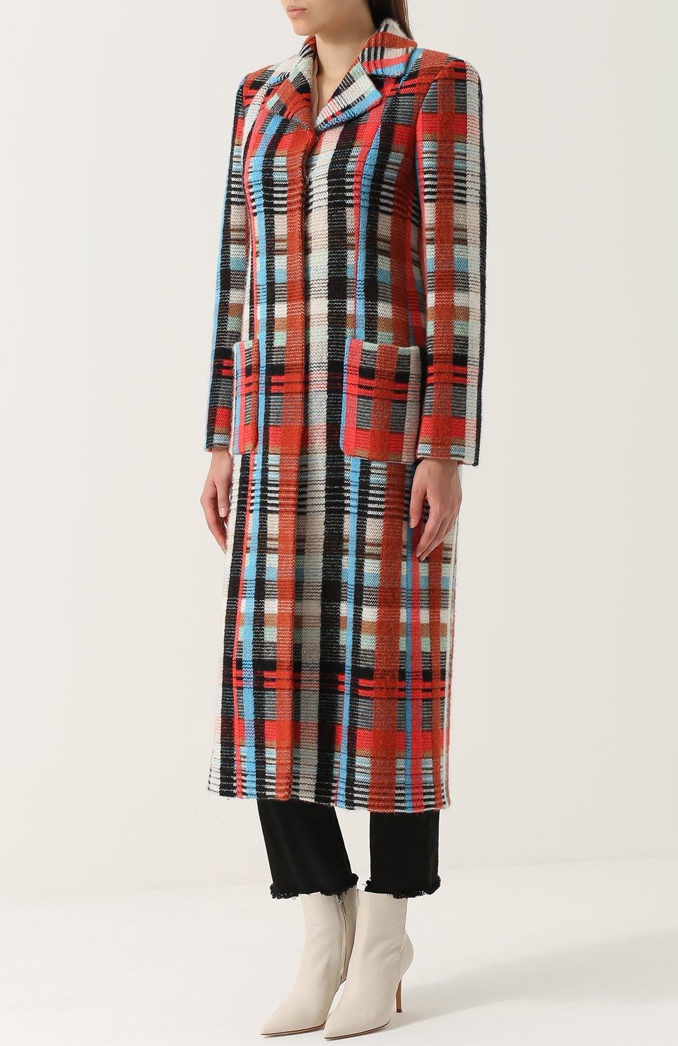 Приталенное шерстяное пальто с накладными карманами | Фото №3