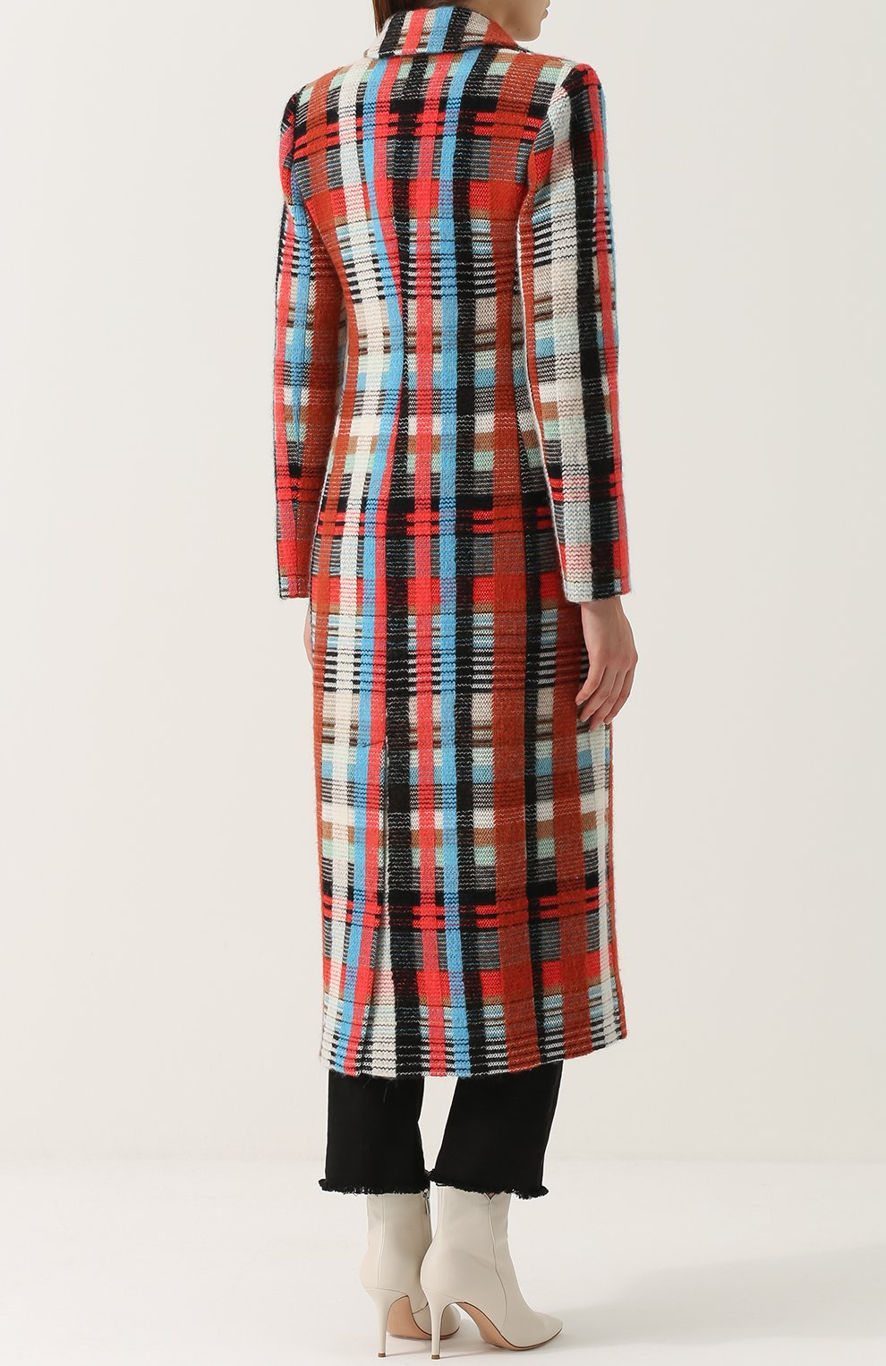 Приталенное шерстяное пальто с накладными карманами | Фото №4