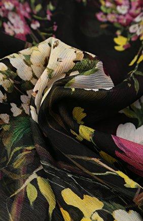 Шелковый шарф с цветочным принтом Dolce & Gabbana разноцветный | Фото №2