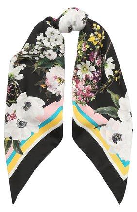 Шелковый платок с принтом Dolce & Gabbana разноцветный | Фото №1