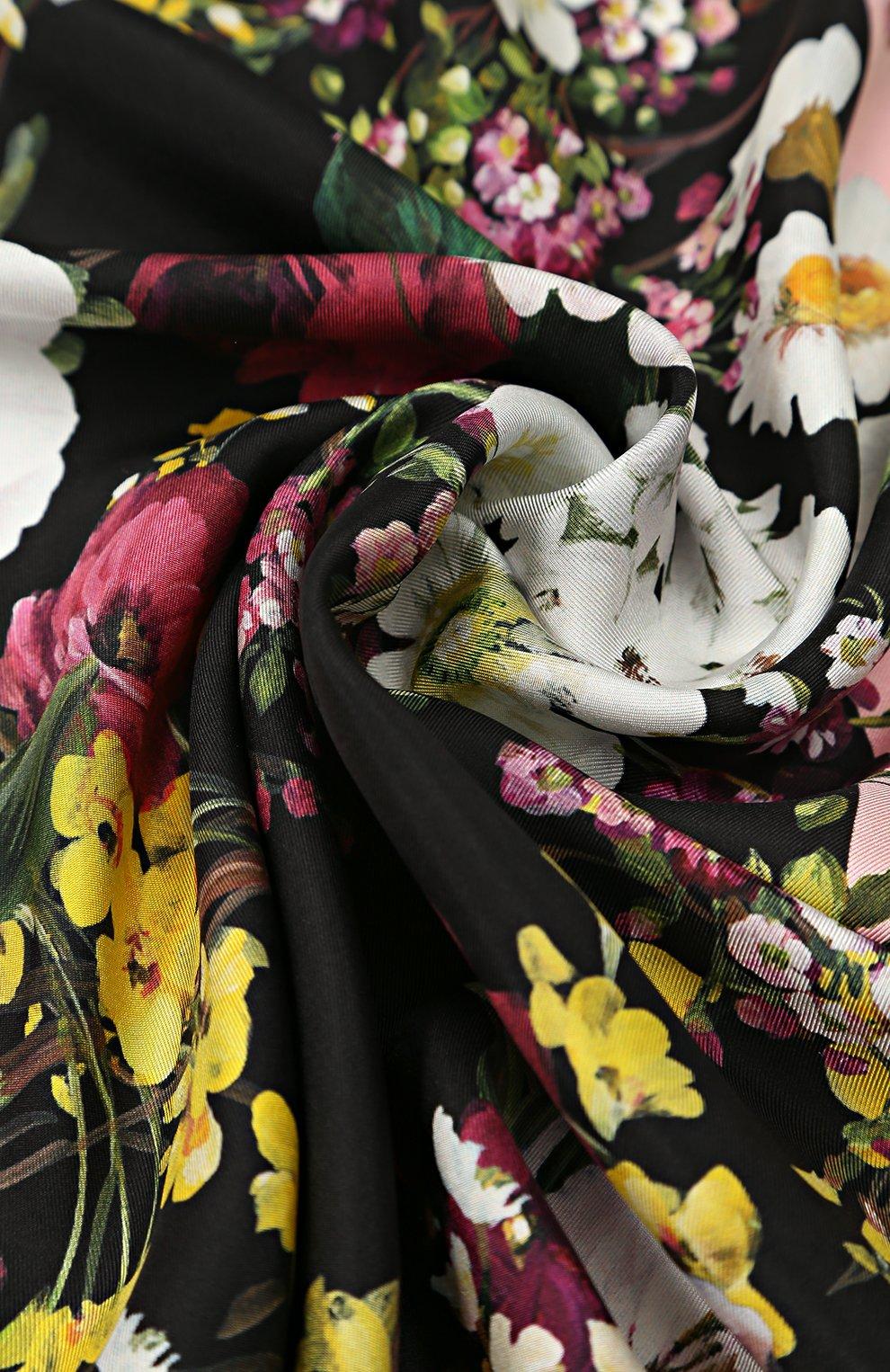 Шелковый платок с принтом Dolce & Gabbana разноцветный | Фото №2