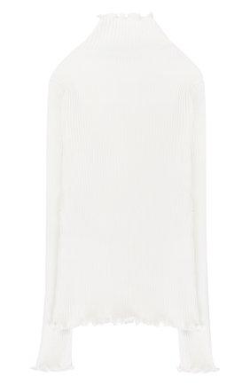 Хлопковая водолазка фактурной вязки | Фото №2