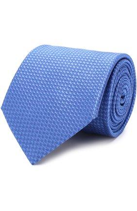 Шелковый галстук Church's голубого цвета | Фото №1