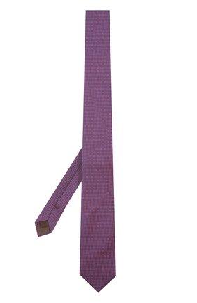 Шелковый галстук с узором Church's красного цвета | Фото №1