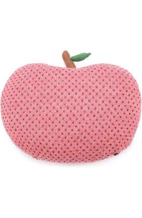 Подушка в виде яблока Oeuf розового цвета | Фото №1