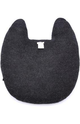 Подушка в виде кота Oeuf черного цвета | Фото №1