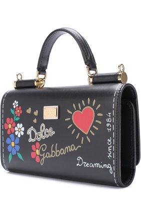 Кожаный чехол для iPhone 7 Plus на цепочке Dolce & Gabbana  | Фото №2