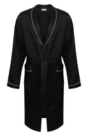 Мужской шелковый халат ZIMMERLI черного цвета, арт. ZN-37 | Фото 1