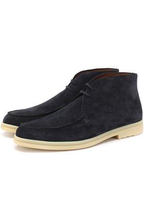 Замшевые ботинки Walk And Walk на шнуровке