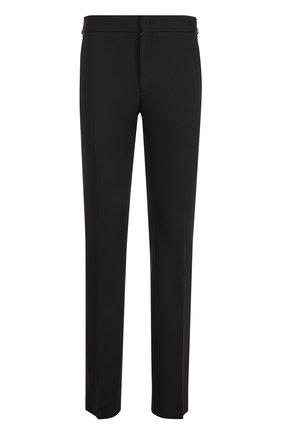 Хлопковые брюки прямого кроя с эластичным поясом