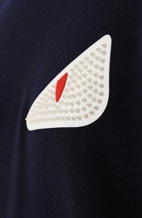 Свитшот из смеси шерсти и хлопка с отделкой Bag Bugs | Фото №5