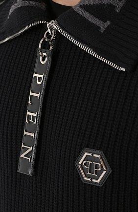Шерстяной свитер с воротником на молнии   Фото №5