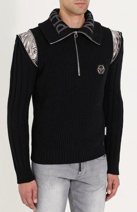 Шерстяной свитер с воротником на молнии   Фото №6