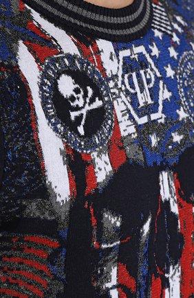 Джемпер из смеси шерсти и вискозы с контрастной отделкой   Фото №5