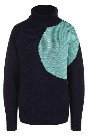 Шерстяной свитер свободного кроя 3.1 Phillip Lim темно-синий | Фото №1