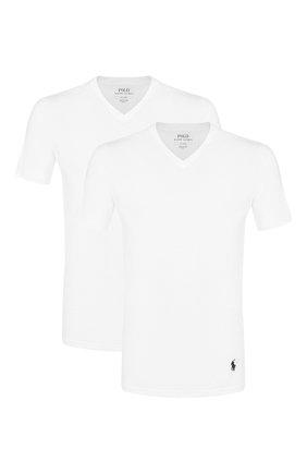Комплект из двух хлопковых футболок с V-образным вырезом | Фото №1