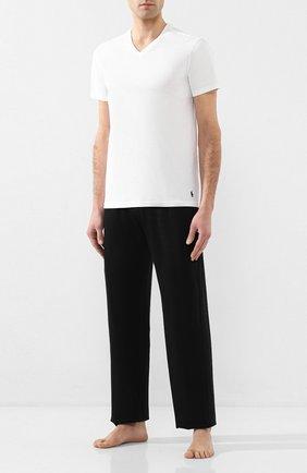 Комплект из двух хлопковых футболок с V-образным вырезом | Фото №2