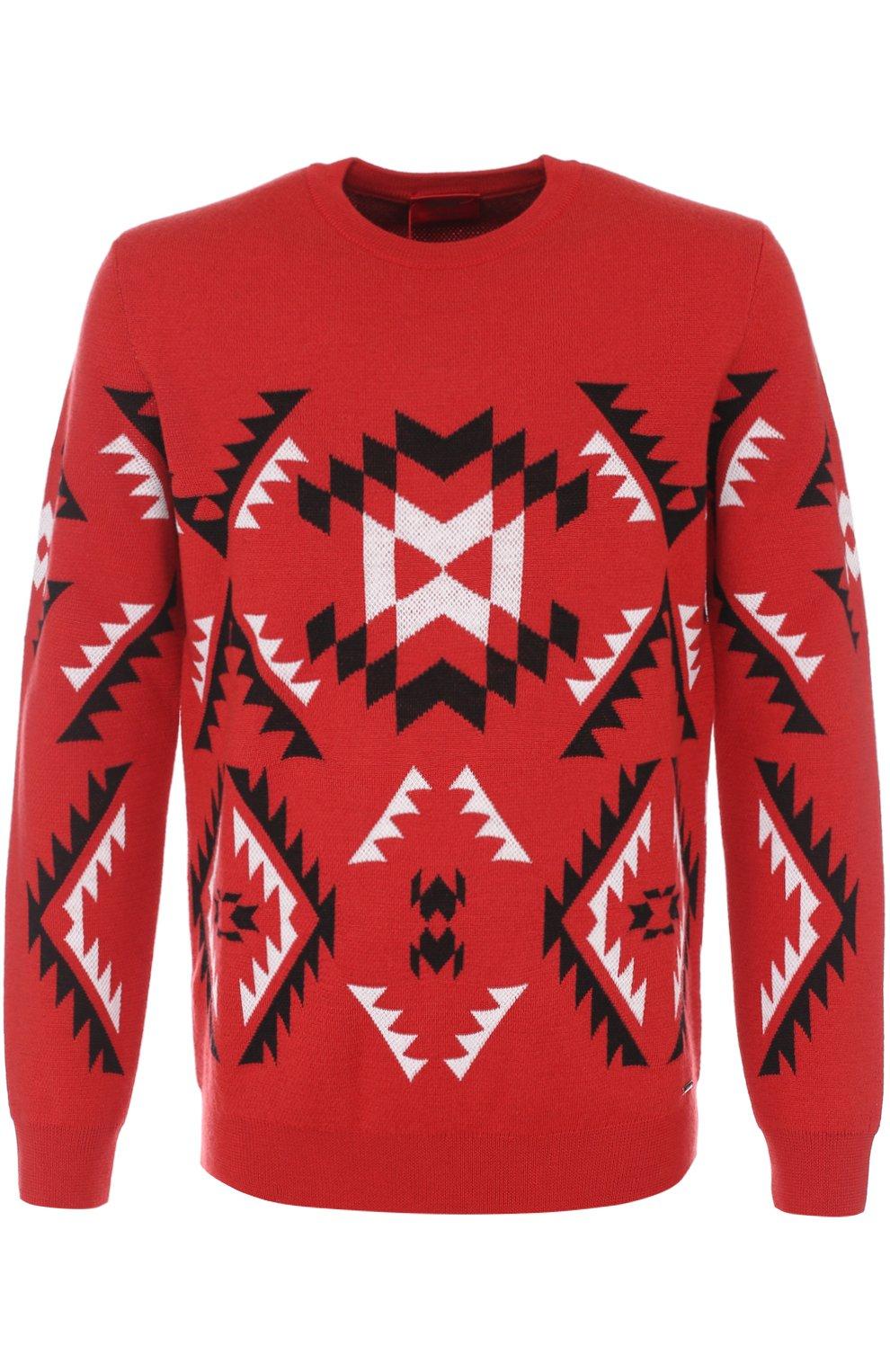 Шерстяной свитер с узором | Фото №1