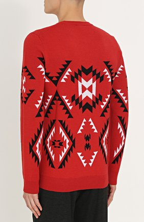 Шерстяной свитер с узором | Фото №4