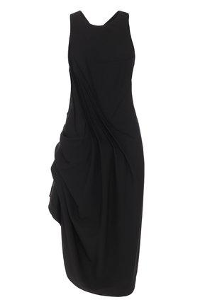 Платье-миди асимметричного кроя без рукавов   Фото №1